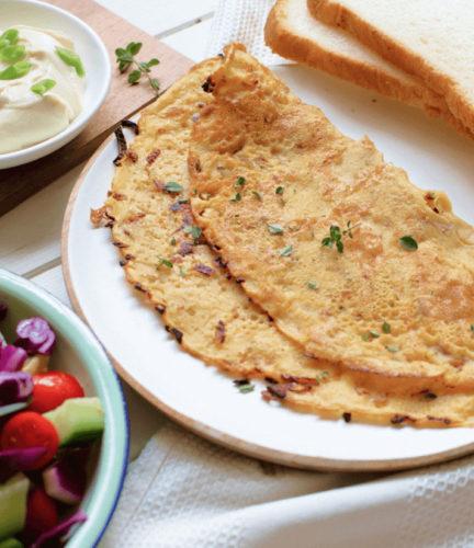 חביתת קמח חומוס